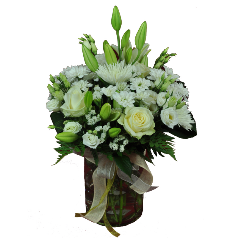 Jarron flores blanca BCN