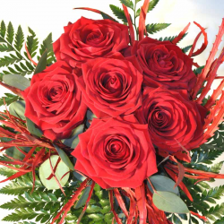 Bunch 6 Red Roses send in Barcelona