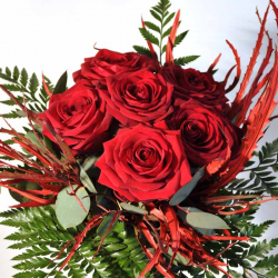 Bouquet 6 Red Roses delivery in Barcelona