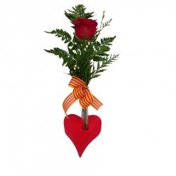 Rosa roja con Corazón.